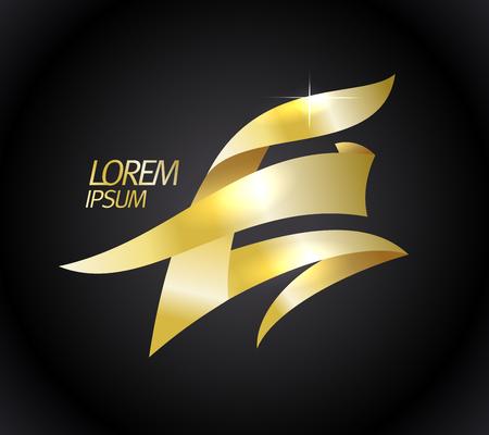 Illustration for Golden E letter logo concept - Royalty Free Image
