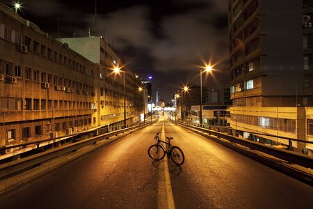 Dark street in Tel Aviv, Israel