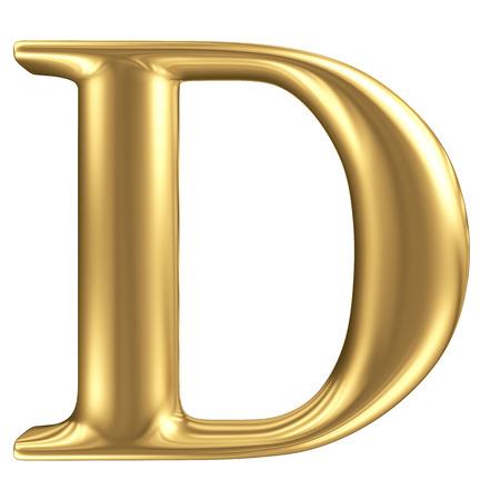 Foto de Golden matt letter D, jewellery font collection - Imagen libre de derechos
