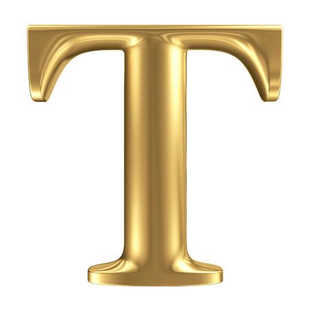 Foto de Golden matt letter T, jewellery font collection - Imagen libre de derechos