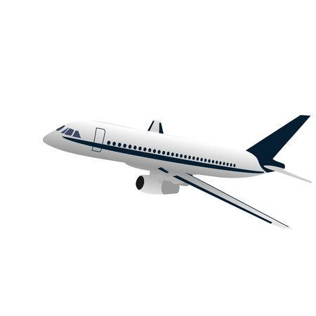 Realisic illustration airplane