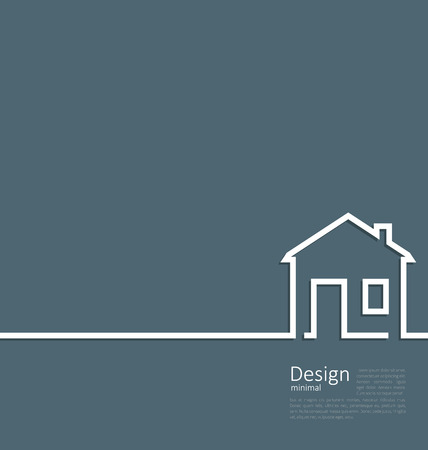 Photo pour Web template house logo in minimal flat style cleaness line - vector - image libre de droit