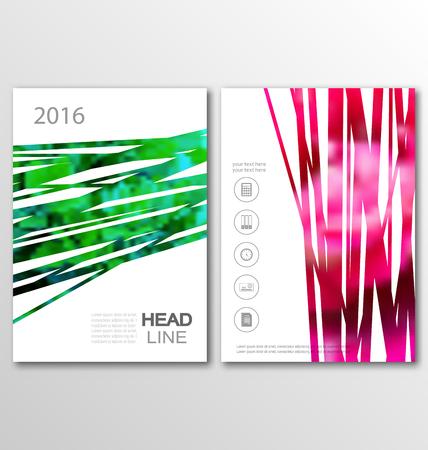 Illustration pour Illustration Brochure Flyer Template A4 Size Design, Cover of Book Design, Abstract Presentation Templates - Vector - image libre de droit