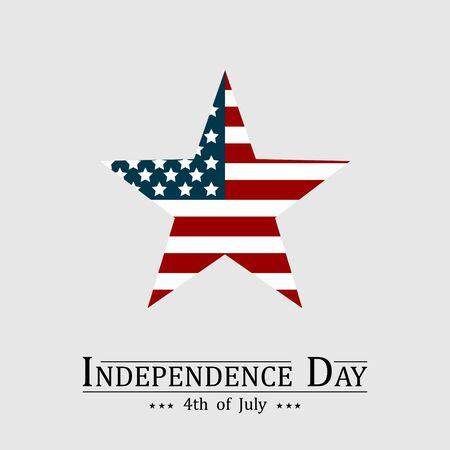 Ilustración de 4th of July, Happy American Independence day illustration. - Imagen libre de derechos