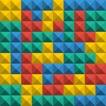 Ilustración de Game Tetris pixel bricks. Seamless pattern background. Colorfull Game background - Imagen libre de derechos