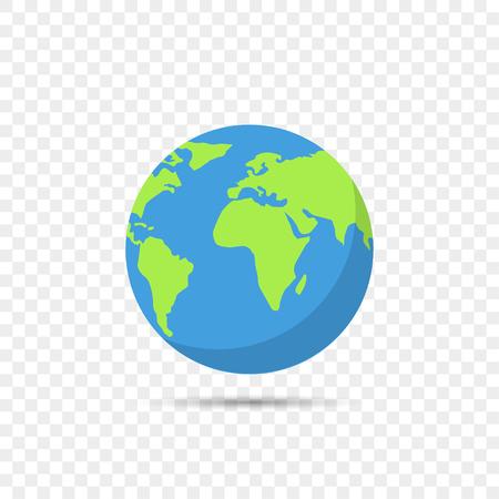 Illustration pour Earth globe on transparent background - image libre de droit