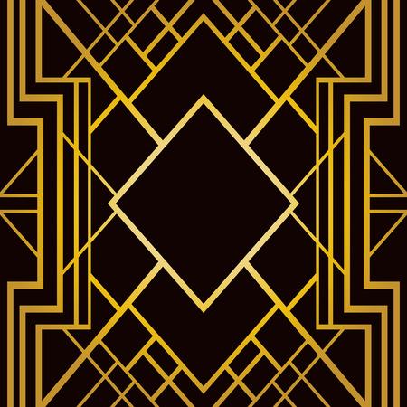 Ilustración de Abstract geometric frame in art deco style - Imagen libre de derechos