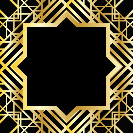 Illustration pour Abstract geometric frame in art deco style - image libre de droit