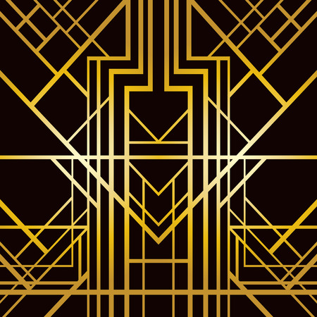 Illustration for Abstract geometric pattern in art deco style - Royalty Free Image