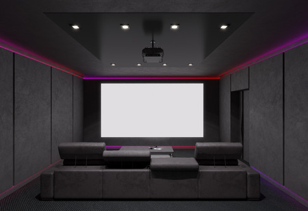 Photo for Home Theater Interior. 3d illustration. - Royalty Free Image