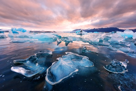 Photo for Icebergs in Jokulsarlon glacial lagoon - Royalty Free Image