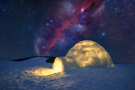 Foto de Wintry scene with snowy trees - Imagen libre de derechos