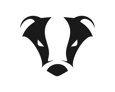 Illustrazione per Abstract Cool Badger - Immagini Royalty Free