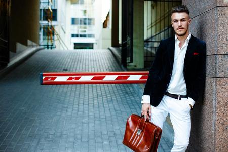 Photo pour Handsome stylish man - image libre de droit