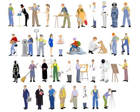 Illustration pour Vector illustration of a different professions set - image libre de droit