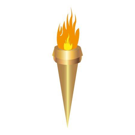 Ilustración de torch on white background - Imagen libre de derechos