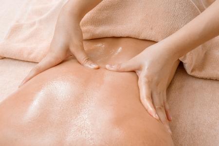 Aromatherapy oil massage in Thai spa