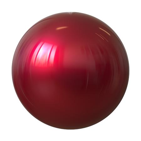 Foto de Ball sphere red round button basic circle geometric shape. Single droplet atom element glossy sparkling object blank balloon. 3d illustration isolated - Imagen libre de derechos