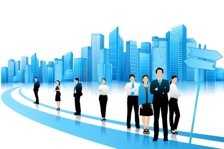 Foto de Business People standing on Road - Imagen libre de derechos