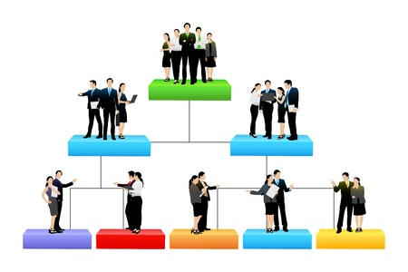 Foto per organisation tree with different hierarchy level - Immagine Royalty Free