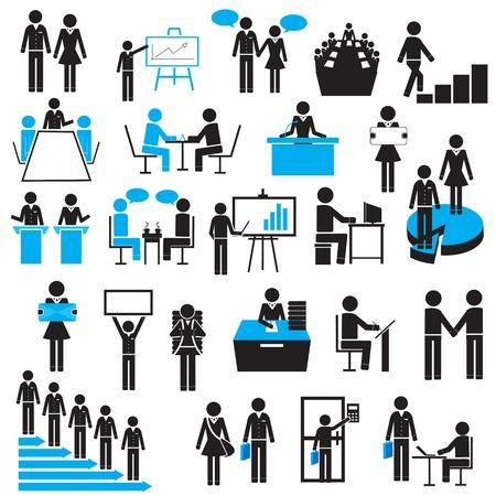 Ilustración de easy to edit vector illustration of businessman icon - Imagen libre de derechos