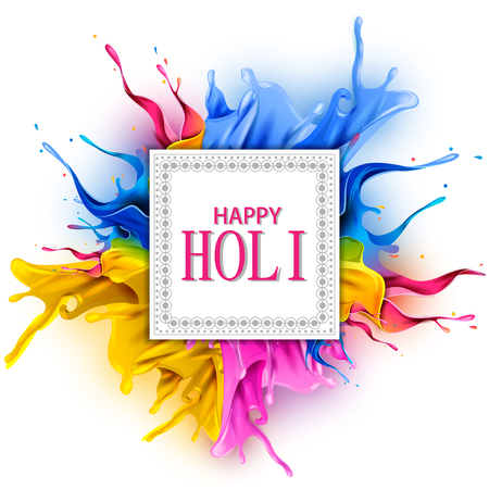 Illustration pour easy to edit vector illustration of Colorful splash for Holi background - image libre de droit
