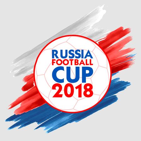 Ilustración de Russia Football Championship Cup soccer sports background for 2018 - Imagen libre de derechos