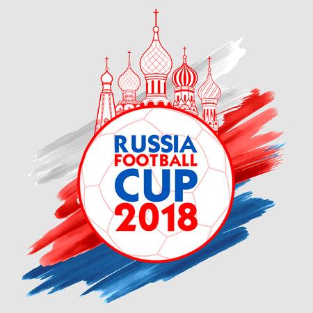 Ilustración de illustration of Russia Football Championship Cup soccer sports background for 2018 - Imagen libre de derechos