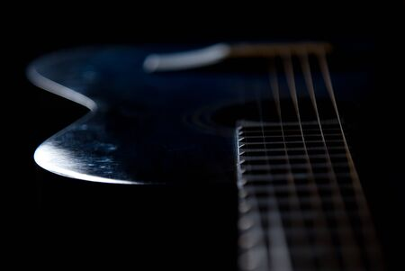 Guitar a musical instrument, strings, a signature stamp, chords
