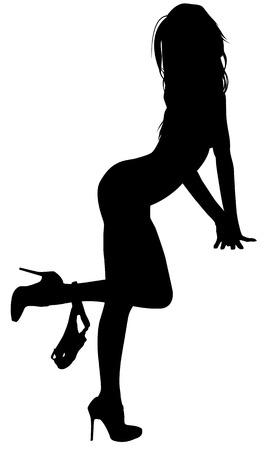 Illustration pour Sexy Woman Silhouette - image libre de droit