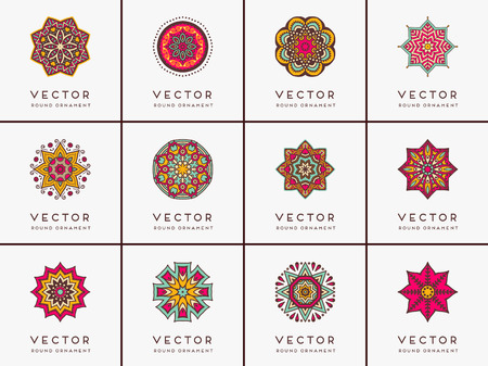 Illustration for Ornament beautiful  card with mandala. Geometric circle element made in vector - Royalty Free Image