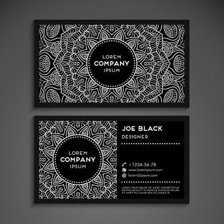Illustration pour Business card vector background in ethnic style - image libre de droit