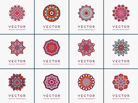 Photo for Ornament beautiful card with mandala. Geometric circle element - Royalty Free Image