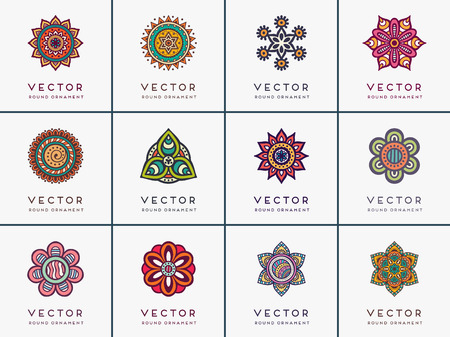 Illustration for Ornament beautiful card with mandala. Geometric circle element - Royalty Free Image