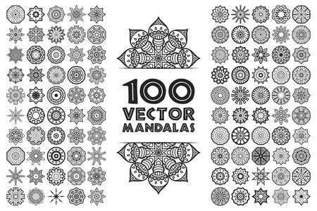 Ilustración de Ornament beautiful  card with mandala. Geometric circle element made in vector - Imagen libre de derechos