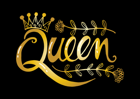 Illustration for Queen hand  lettering - Royalty Free Image