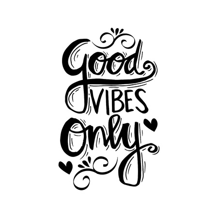Illustrazione per Good Vibes Only. Motivational quote. - Immagini Royalty Free