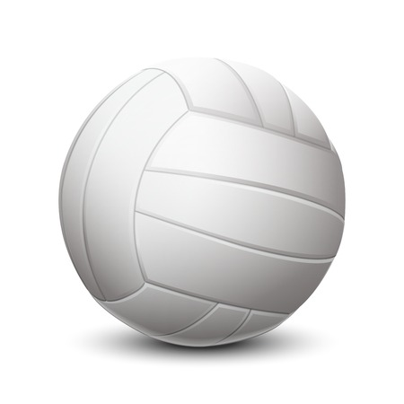 White volleyball ball isolated on white background  Vector illustration