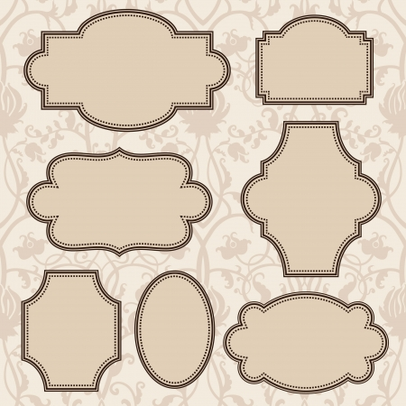 Illustration for Vintage frames set - Royalty Free Image