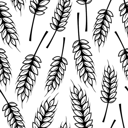 Illustration pour Seamless pattern with ears of wheat - image libre de droit