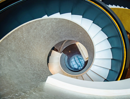 Photo pour Rotating stairs, architectural features - image libre de droit