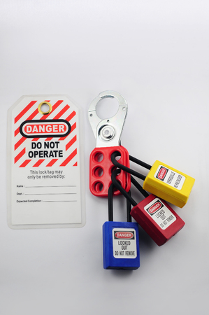 Photo for Lock out & Tag out , Lockout station,machine - specific lockout devices - Royalty Free Image