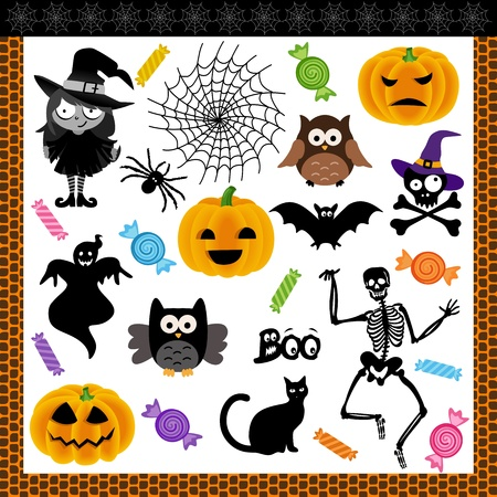 Halloween night trick or treat digital collage