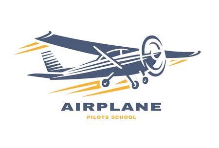 Ilustración de Airplane Club Vector illustration Logo on white background - Imagen libre de derechos