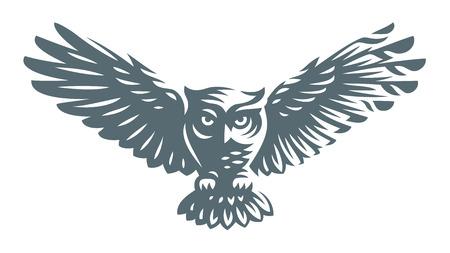 Ilustración de Owl icon design on white background - Imagen libre de derechos