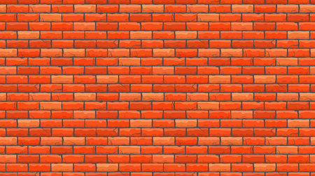 Illustration pour Seamless brown brick pattern isolated wall background. Vector illustration. - image libre de droit