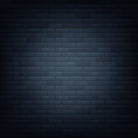 Illustration pour Brick wall with light source background isolated pattern. Vector illustration. - image libre de droit