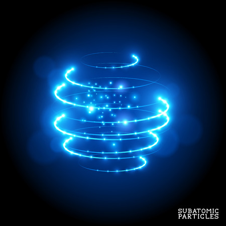 Illustration pour Subatomic Particles - vector illustration. - image libre de droit