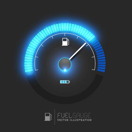 Illustration pour A fuel gauge, speedometer vector illustration - image libre de droit
