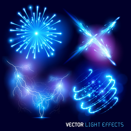 Illustration pour Vector special effects Collection. Set of various light effects and symbols, vector illustration. - image libre de droit